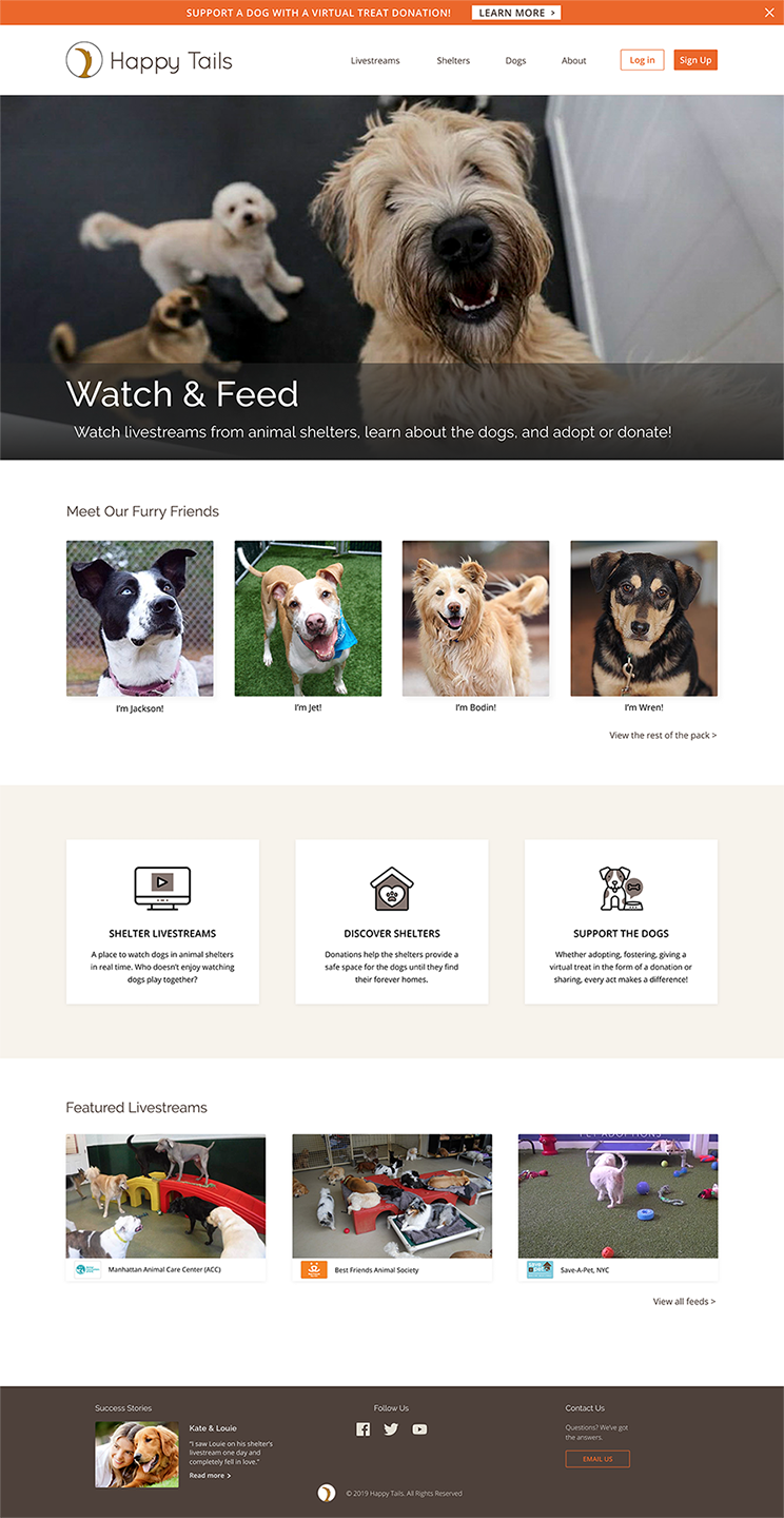 Happy Tails Homepage