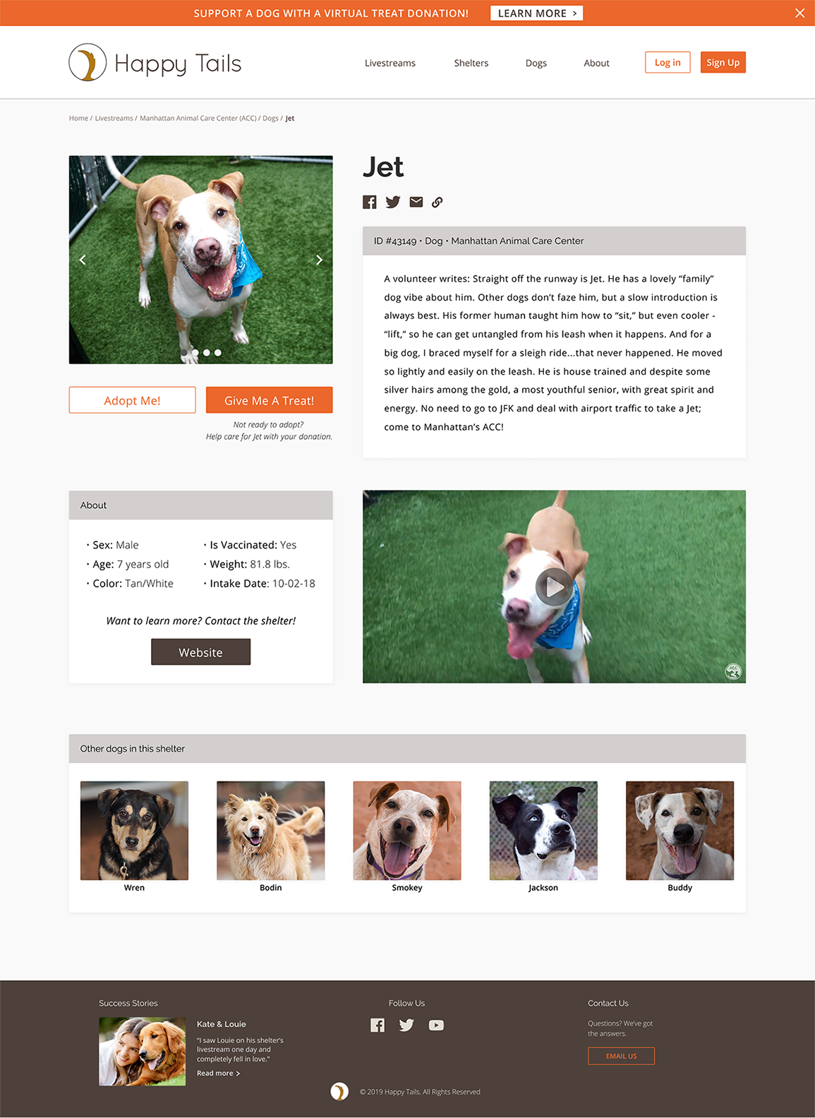 Selected Dog Page