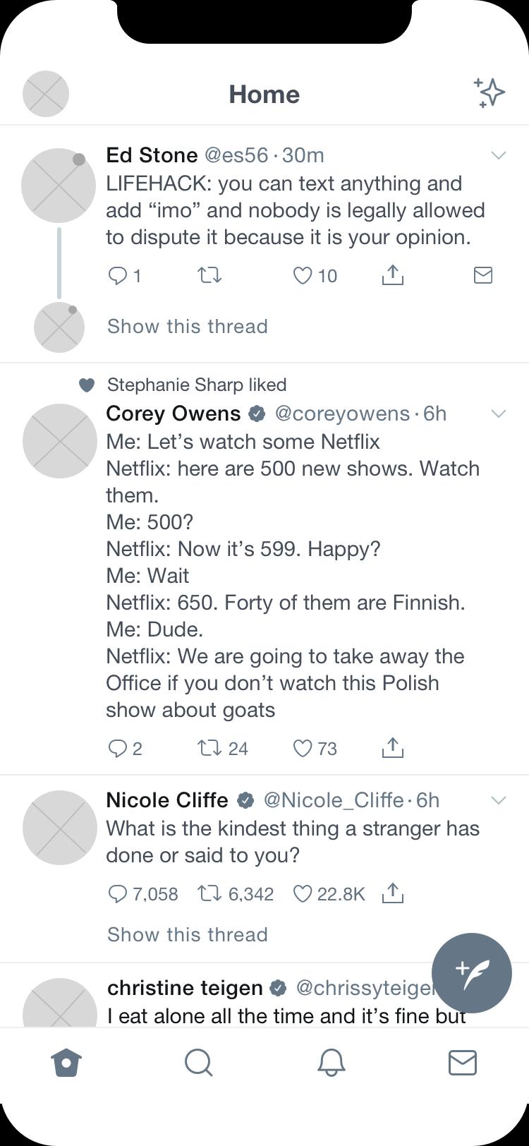 Twitter Homepage
